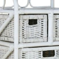 1897 Rattan Dresser White 3+2