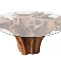 2340 Dining Table Teak Root D130